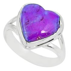 6.38cts purple copper turquoise 925 silver solitaire ring jewelry size 6 r84727