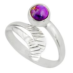 1.04cts purple copper turquoise 925 silver solitaire ring jewelry size 9 r22201