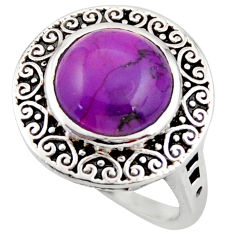 5.12cts purple copper turquoise 925 sterling silver ring jewelry size 6.5 d46096