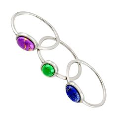 2.73cts purple copper turquoise turquoise 925 silver 3 rings size 5 c9875