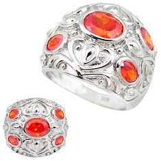 Red garnet quartz 925 sterling silver ring jewelry size 7 c23696