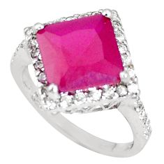 7.33cts red ruby (lab) topaz 925 sterling silver ring jewelry size 8 c20786