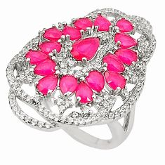 Red ruby quartz topaz 925 sterling silver ring jewelry size 6 c19199