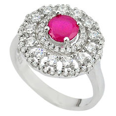 Red ruby quartz topaz 925 sterling silver ring jewelry size 6 c22296