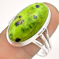 15.80cts solitaire atlantisite stichtite-serpentine silver ring size 11 t54346