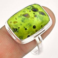 13.36cts solitaire atlantisite stichtite-serpentine silver ring size 11 t54347