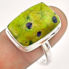 13.71cts solitaire atlantisite stichtite-serpentine silver ring size 11 t54353