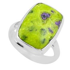 11.66cts solitaire atlantisite stichtite-serpentine silver ring size 7 t39038