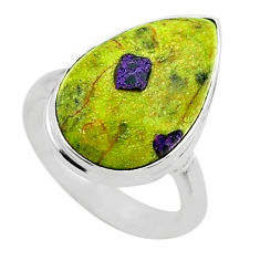 10.74cts solitaire atlantisite stichtite-serpentine silver ring size 7 t39047