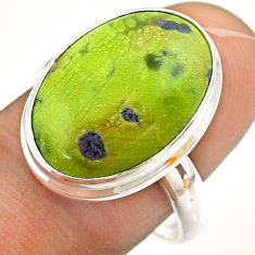 12.83cts solitaire atlantisite stichtite-serpentine silver ring size 9 t54329