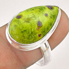 12.83cts solitaire atlantisite stichtite-serpentine silver ring size 9 t54355