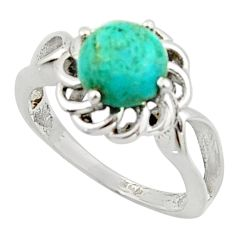 3.12cts solitaire blue arizona mohave turquoise 925 silver ring size 7 r40666