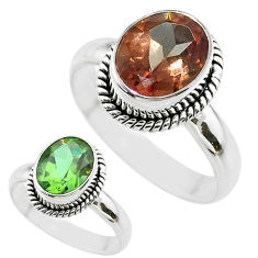 4.39cts solitaire green alexandrite (lab) 925 sterling silver ring size 8 t56938
