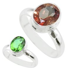 4.29cts solitaire green alexandrite (lab) 925 sterling silver ring size 8 t56987