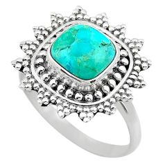 3.36cts solitaire green arizona mohave turquoise 925 silver ring size 8.5 t20246