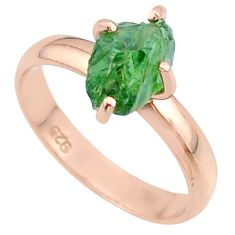 4.56cts solitaire natural apatite rough 925 silver rose gold ring size 8 t36844
