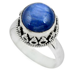 5.41cts solitaire natural blue kyanite 925 sterling silver ring size 7 r51193