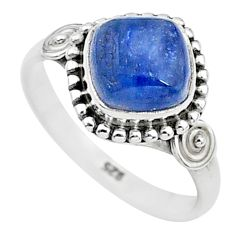 2.92cts solitaire natural blue kyanite 925 sterling silver ring size 7 t6076