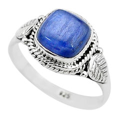 3.11cts solitaire natural blue kyanite 925 sterling silver ring size 7 t6094