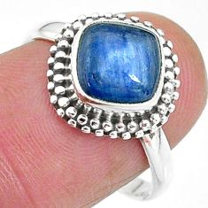 3.05cts solitaire natural blue kyanite 925 sterling silver ring size 8 t11321