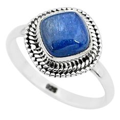 3.26cts solitaire natural blue kyanite 925 sterling silver ring size 8 t6066