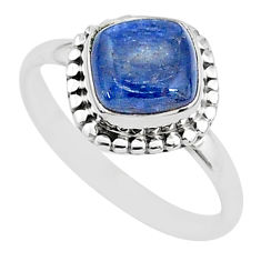 3.09cts solitaire natural blue kyanite 925 sterling silver ring size 8 t6070
