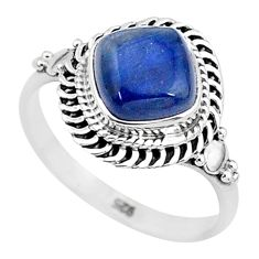 3.26cts solitaire natural blue kyanite 925 sterling silver ring size 8 t6077