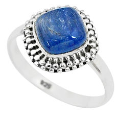 2.61cts solitaire natural blue kyanite 925 sterling silver ring size 8 t6100