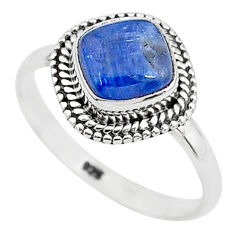 3.26cts solitaire natural blue kyanite 925 sterling silver ring size 9 t6064