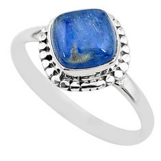 3.31cts solitaire natural blue kyanite 925 sterling silver ring size 9 t6089