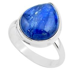 8.45cts solitaire natural blue kyanite 925 sterling silver ring size 8.5 t15446
