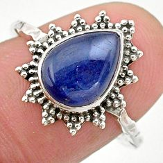 2.44cts solitaire natural blue kyanite 925 sterling silver ring size 7.5 t25329