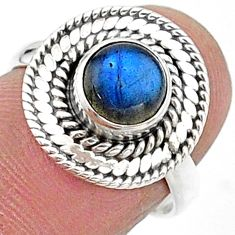 2.41cts solitaire natural blue labradorite 925 silver ring size 7 t15717