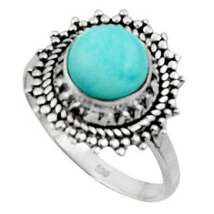 3.48cts solitaire natural blue larimar 925 sterling silver ring size 8.5 r50153