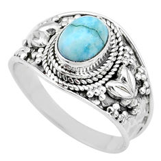 2.08cts solitaire natural blue larimar 925 sterling silver ring size 9 t10231
