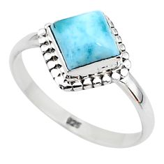 2.28cts solitaire natural blue larimar 925 sterling silver ring size 9 t11187