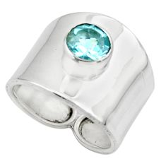 2.62cts solitaire natural blue topaz 925 silver ring jewelry size 7 r49842