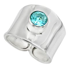 2.63cts solitaire natural blue topaz 925 silver ring jewelry size 7 r49860