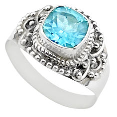 2.71cts solitaire natural blue topaz 925 sterling silver boho ring size 8 t37835