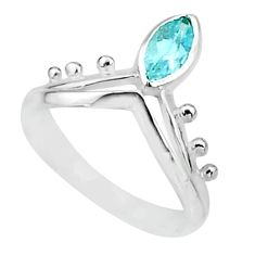 1.81cts solitaire natural blue topaz 925 sterling silver ring size 8 t7537