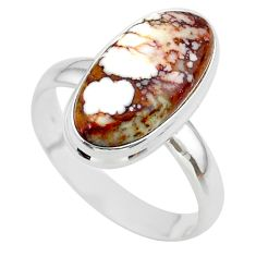 8.94cts solitaire natural bronze wild horse magnesite silver ring size 10 t38982