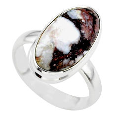 8.53cts solitaire natural bronze wild horse magnesite silver ring size 7 t38995