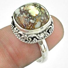 6.74cts solitaire natural bronze wild horse magnesite silver ring size 7 t55878