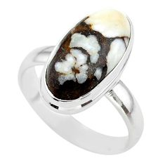 8.96cts solitaire natural bronze wild horse magnesite silver ring size 9 t38991