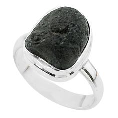 5.53cts solitaire natural brown cintamani saffordite silver ring size 7 t58016