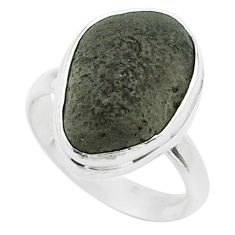 8.94cts solitaire natural brown cintamani saffordite silver ring size 7 t58031