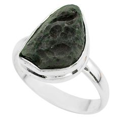 6.84cts solitaire natural brown cintamani saffordite silver ring size 9 t58019