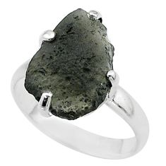 7.17cts solitaire natural brown cintamani saffordite silver ring size 9 t58075
