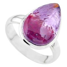 7.30cts solitaire natural cacoxenite super seven 925 silver ring size 7 t37135