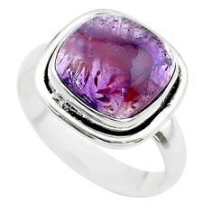 5.20cts solitaire natural cacoxenite super seven 925 silver ring size 7 t56887